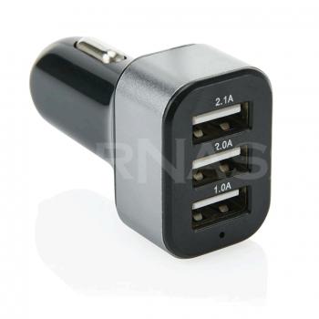 3.1A auto lādētājs 3 USB