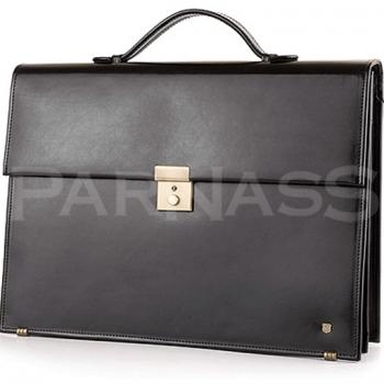 Ādas portfelis ar nodalījumu datoram