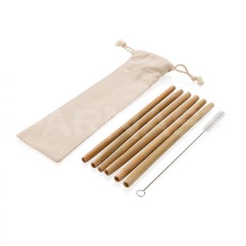 Atkārtoti lietojami bambusa salmiņi