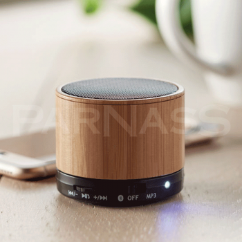 Bluetooth skaļrunis ROUND BAMBOO