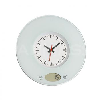 Digitāli virtuves svari – sienas pulkstenis TIME
