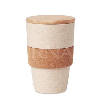Eko materiālu krūze ar bambusa vāciņu LANKA