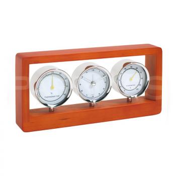 Galda pulkstenis – higrometrs – termometrs FRAME
