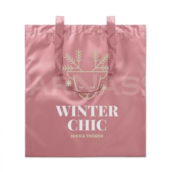 Iepirkumu maiss metāliskā krāsā NEW YORK