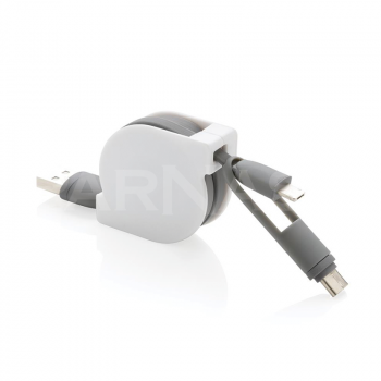 Izvelkams uzlādes kabelis 3IN1 RETRACTABLE CABLE