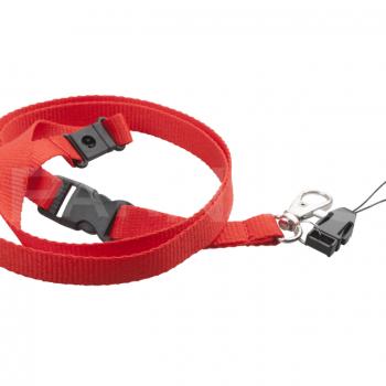 Kakla lente BRIOL, atsprādzējama, ar karabīni un telefona klipsi