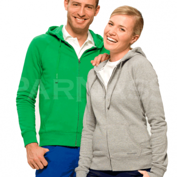 Kokvilnas jaka ar kapuci RACE