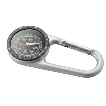 Kompass – karabīne SILVER