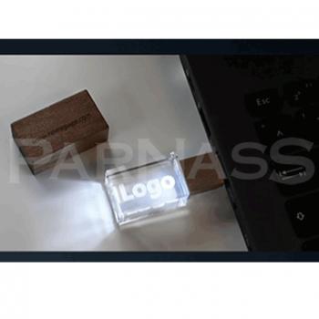Kristāla zibatmiņa WOOD ar 3D gravējumu