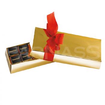 MEGA UNCE 12 šokolādes zelta vai sudraba kārbā