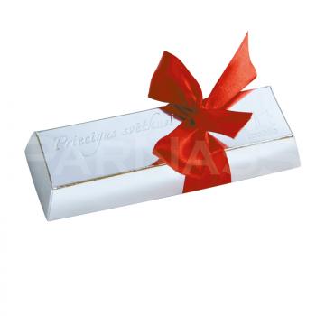 MINI UNCE 3 šokolādes zelta vai sudraba kastē