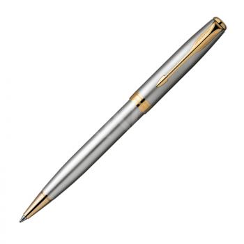 PARKER SONNET STAINLESS STEEL GOLD TRIM, pildspalva
