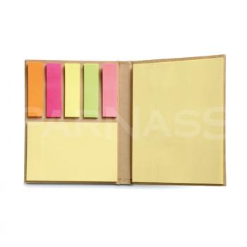 Pārstrādāta papīra līmlapiņu bloks