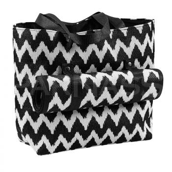 Pludmales soma ZIG ZAG ar paklājiņu