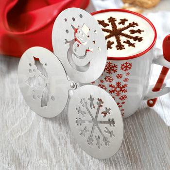 Šablons kafijas dekorēšanai, 3 dizaini