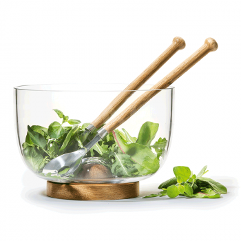 Salātu bļoda un karotes OAK