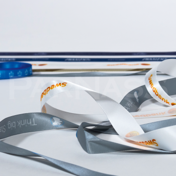 Satīna dāvanu lente ar sublimācijas druku