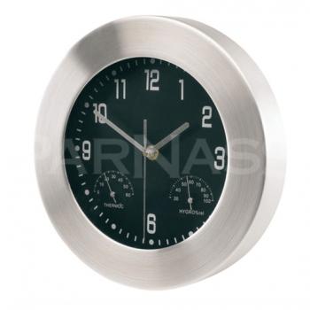 Sienas pulkstenis ar hidrometru un termometru JUPITER