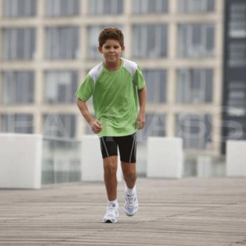 Skriešanas krekls RUNNING T CONTRAST KIDS