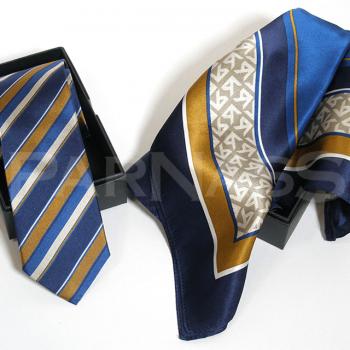 Speciāla dizaina komplekts – zīda kaklasaite, lakats