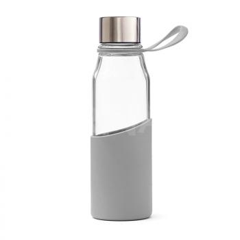 Stikla ūdens pudele LEAN silikona ietvarā