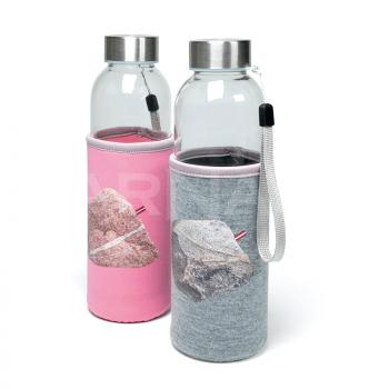 Stikla ūdens pudele UTAH GLASS neoprēna maciņā