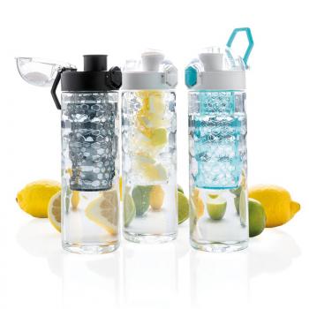 Ūdens pudele ar augļu sietiņu HONEYCOMB