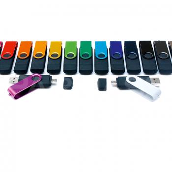 USB – Micro USB zibatmiņa DUAL TWISTER