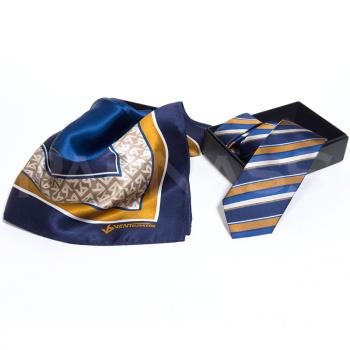 Zīda kaklasaite un lakats, komplekts, speciāls dizains